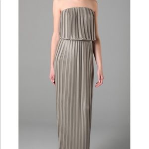 BCBG taupe maxi dress